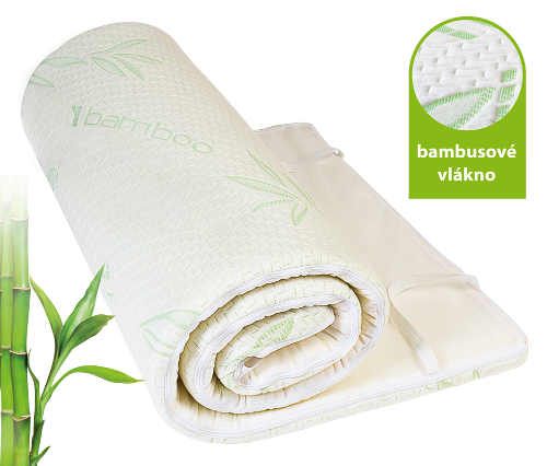 Vrchní matrace s antibakteriálním bambusovým potahem